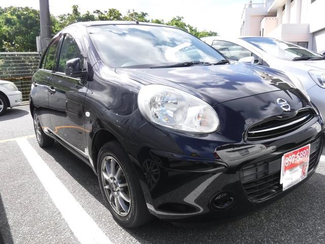 沖縄県の中古車ならマーチ 2年保証 キーレス 社外アルミ 本土車