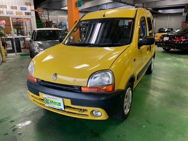 沖縄の中古車 ルノー ルノー カングー 車両価格 39万円 リ済別 2003年 10.2万km イエロー