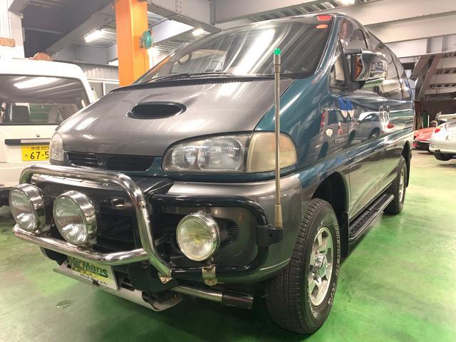 沖縄県の中古車ならデリカスペースギア エクシードI 4WD MT5速 全塗装 HID 後モニタ2個