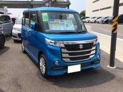 沖縄の中古車 スズキ スペーシアカスタムZ 車両価格 159万円 リ済別 平成29年 0.8万K ブルーM