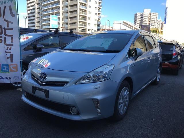 沖縄の中古車 トヨタ プリウスアルファ 車両価格 156万円 リ済別 平成25年 4.5万km シルバー