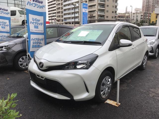 沖縄の中古車 トヨタ ヴィッツ 車両価格 97.2万円 リ済別 平成27年 3.0万km パールホワイト