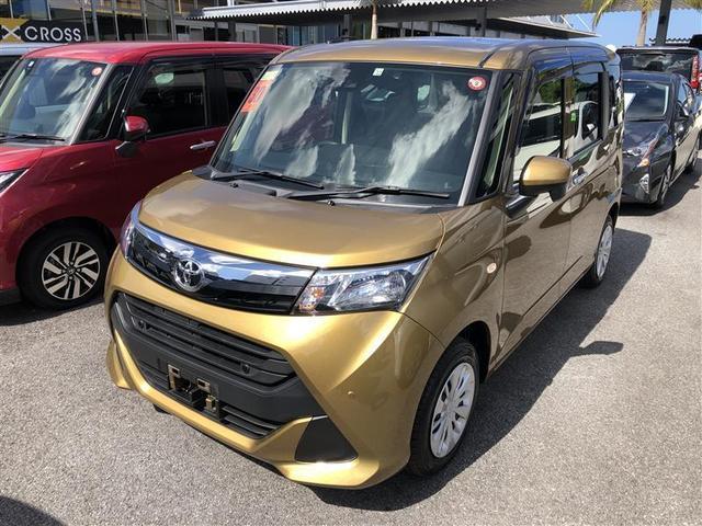 沖縄の中古車 トヨタ タンク 車両価格 159.5万円 リ済別 2018(平成30)年 991km ゴールド