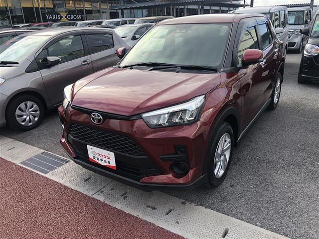 沖縄の中古車 トヨタ ライズ 車両価格 198万円 リ済別 2019年 0.7万km ワイン