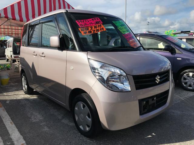 沖縄の中古車 スズキ パレット 車両価格 74万円 リ済込 平成23年 7.9万km ピンク