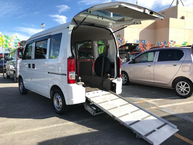 沖縄県の中古車ならエブリイワゴン スローパー 4人乗り 福祉車両 ドライブレコーダー ABS