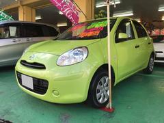 沖縄の中古車 日産 マーチ 車両価格 69万円 リ済込 平成23年 2.4万K グリーン