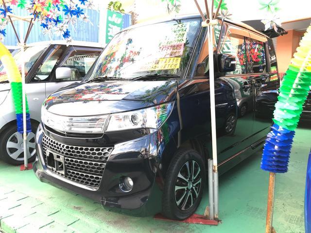 沖縄の中古車 スズキ パレットSW 車両価格 86万円 リ済込 平成24年 9.0万km ブルーイッシュブラックパール3