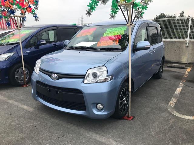 沖縄の中古車 トヨタ シエンタ 車両価格 88万円 リ済込 2013(平成25)年 7.2万km ライトブルー