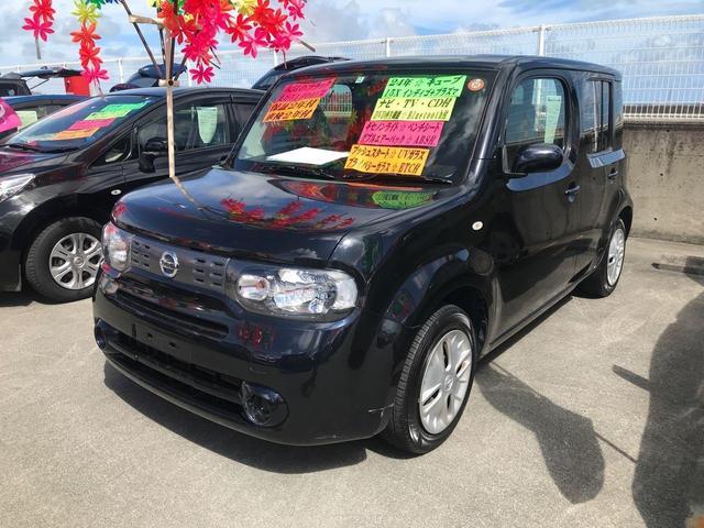 沖縄の中古車 日産 キューブ 車両価格 69万円 リ済込 2012(平成24)年 5.2万km ブラック