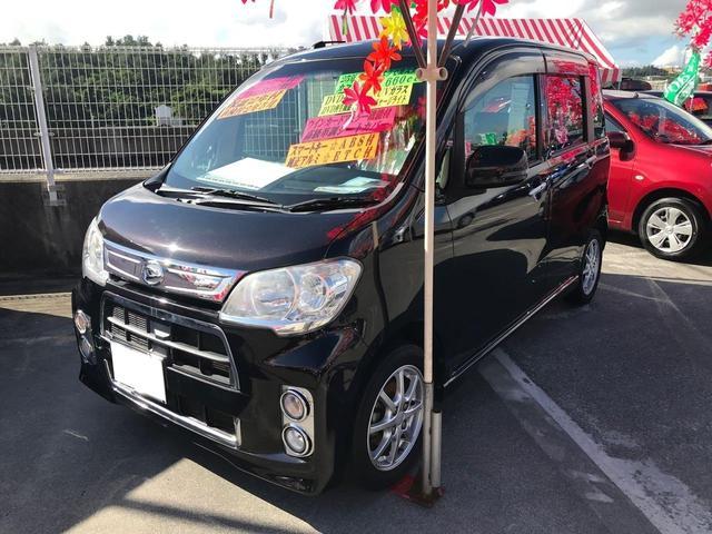 沖縄の中古車 ダイハツ タントエグゼ 車両価格 74万円 リ済込 2013(平成25)年 7.1万km ブラック