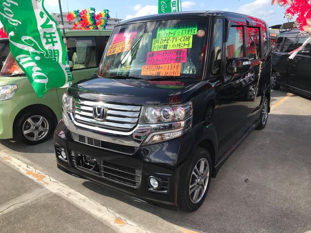 沖縄県の中古車ならN-BOXカスタム G SSパッケージ DVDナビ TV バックモニター