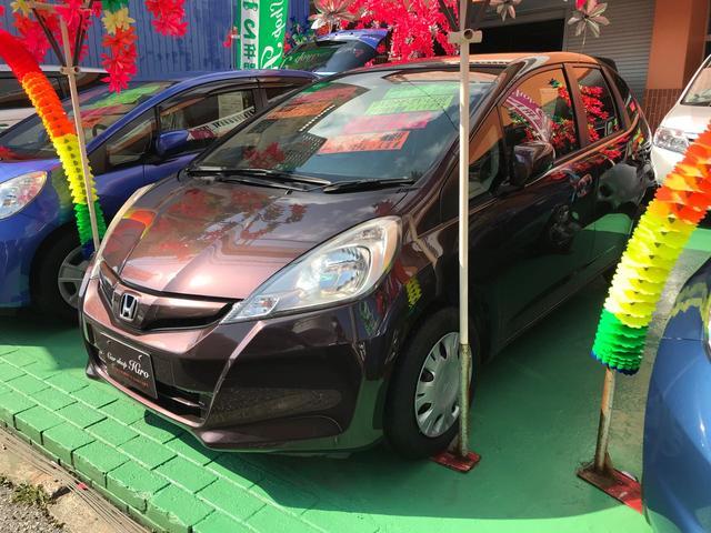 沖縄の中古車 ホンダ フィット 車両価格 79万円 リ済込 2013(平成25)年 4.5万km ブラウン
