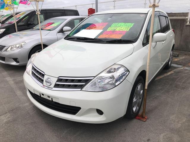沖縄の中古車 日産 ティーダ 車両価格 59万円 リ済込 2012(平成24)年 6.9万km パールホワイト