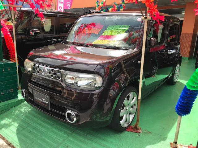 沖縄の中古車 日産 キューブ 車両価格 69万円 リ済込 2012(平成24)年 7.8万km ブラウン