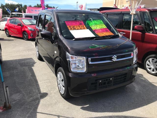 沖縄の中古車 スズキ ワゴンR 車両価格 93万円 リ済込 2017(平成29)年 2.9万km ブラック