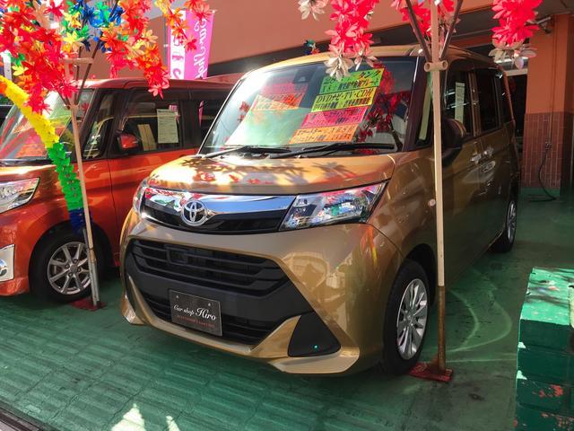 沖縄の中古車 トヨタ タンク 車両価格 119万円 リ済込 2016(平成28)年 4.4万km ゴールド