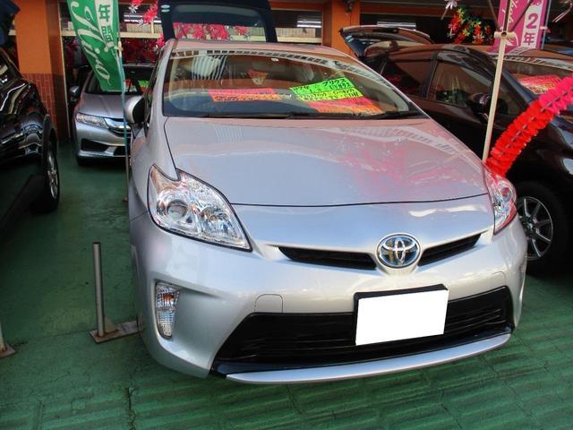 沖縄県の中古車ならプリウス L 純正ナビ・TV・CD付 BlUetooth機能 ウインカーミラー走行32000km