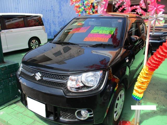 沖縄の中古車 スズキ イグニス 車両価格 114万円 リ済込 2016(平成28)年 6.0万km ブラック