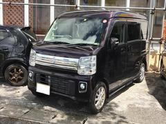 沖縄の中古車 スズキ エブリイワゴン 車両価格 140万円 リ済別 平成28年 1.3万K ダークパープル