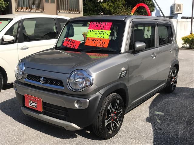 沖縄の中古車 スズキ ハスラー 車両価格 89万円 リ済別 平成26年 3.3万km シルバーM