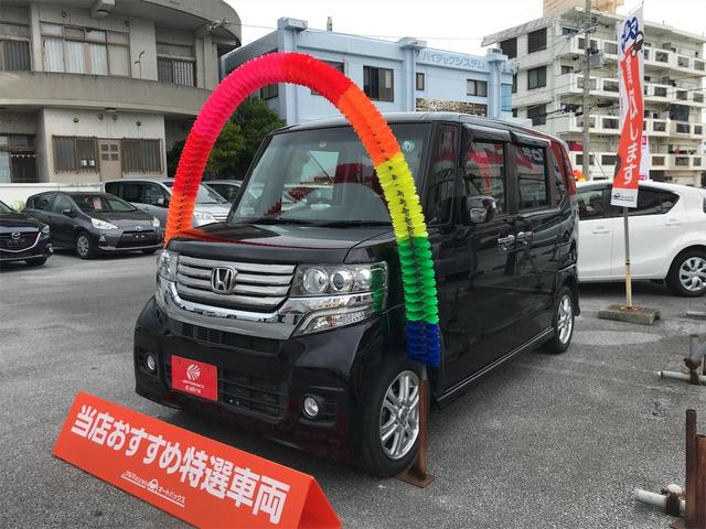 沖縄の中古車 ホンダ N-BOXカスタム 車両価格 80万円 リ済別 2012(平成24)年 7.8万km ブラック