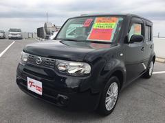沖縄の中古車 日産 キューブ 車両価格 49万円 リ済込 平成23年 7.2万K ブラック