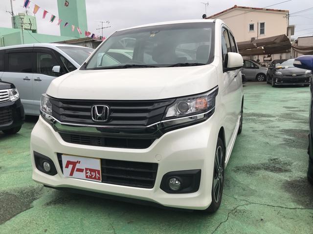 沖縄の中古車 ホンダ N-WGNカスタム 車両価格 88万円 リ済込 2014(平成26)年 2.7万km パール