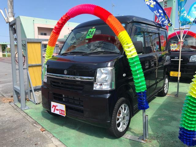 沖縄の中古車 スズキ エブリイ 車両価格 64万円 リ済込 2012(平成24)年 9.7万km ブラック