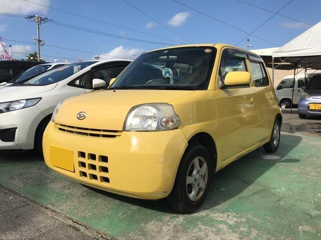 沖縄の中古車 ダイハツ エッセ 車両価格 5万円 リ済別 2006(平成18)年 10.5万km イエロー