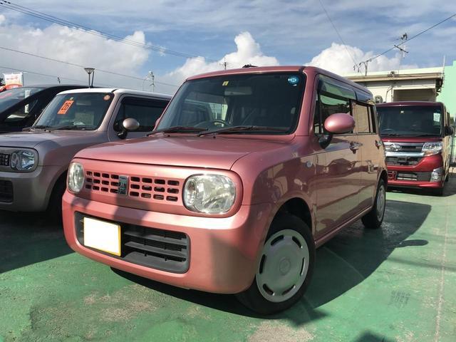 沖縄の中古車 スズキ アルトラパン 車両価格 49万円 リ済込 2011(平成23)年 5.7万km ピンク