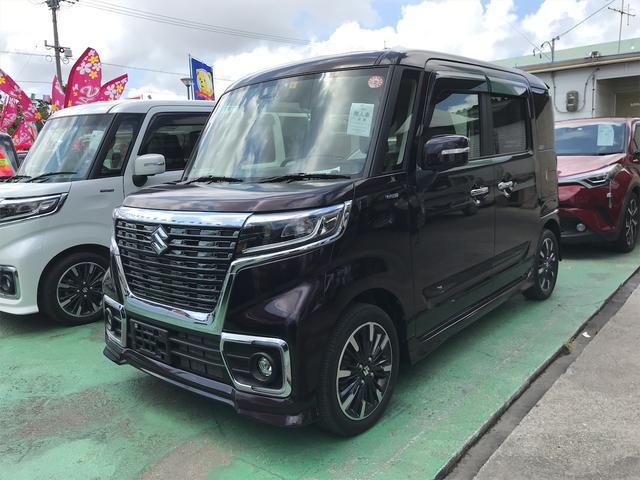 沖縄県の中古車ならスペーシアカスタム ハイブリッドXS 両側パワースライドドア バックモニター