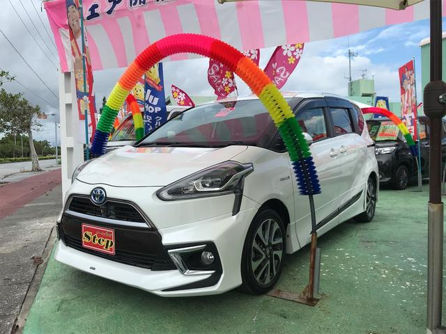 沖縄県沖縄市の中古車ならシエンタ ハイブリッドG プッシュスタート スマートキー LEDヘッドライト 両側パワースライドドア FSRモデリスタエアロ