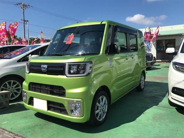 沖縄県沖縄市の中古車ならウェイク L レジャーエディションSAIII 両側パワースライドドア スマートキー LEDヘッドライト プッシュスタート 純正アルミ