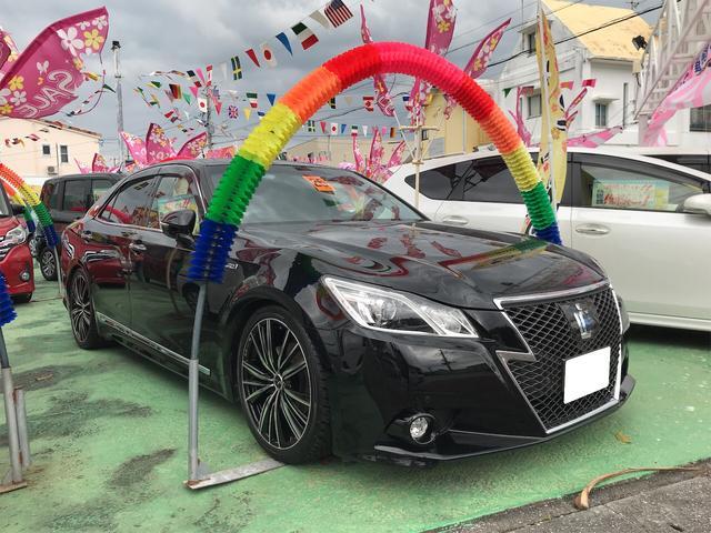 沖縄県の中古車ならクラウンハイブリッド アスリートS HDDナビTV プッシュスタート パワーシート シートヒーター スマートキー 社外アルミ