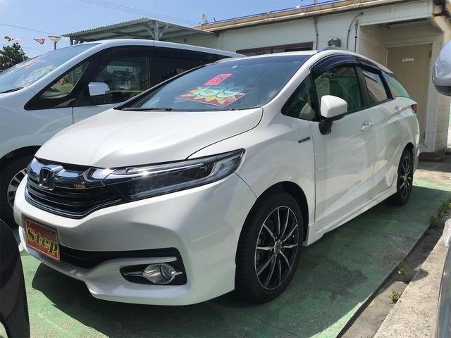 沖縄の中古車 ホンダ シャトル 車両価格 129万円 リ済込 2016(平成28)年 5.5万km パール