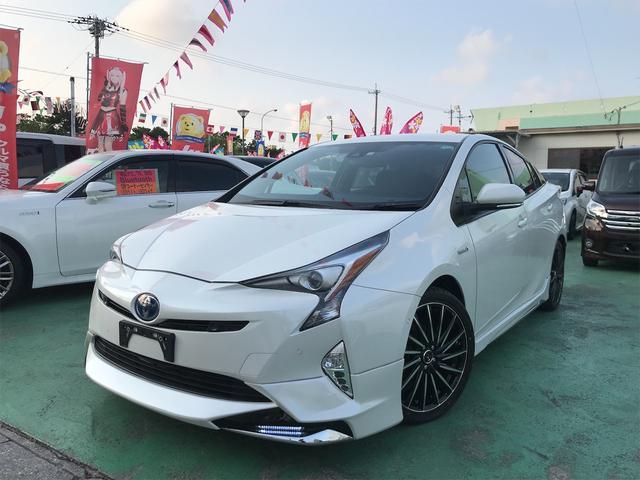 沖縄の中古車 トヨタ プリウス 車両価格 209万円 リ済込 2018(平成30)年 3.4万km パール