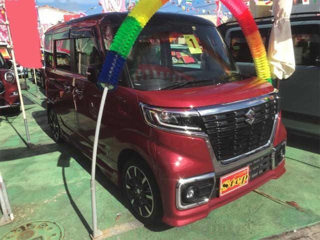 沖縄県の中古車ならスペーシアカスタム ハイブリッドXS アラウンドビューモニター 両側パワースライドドア  バックカメラ シートヒーター ETC