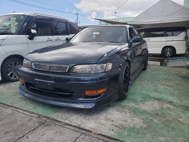 沖縄県の中古車ならマークII ツアラーV 純正F5速マニュアル F S Rエアロパーツ ENKEI18インチアルミ