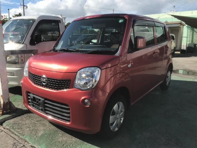 沖縄の中古車 日産 モコ 車両価格 49万円 リ済込 2012(平成24)年 6.6万km ピンク