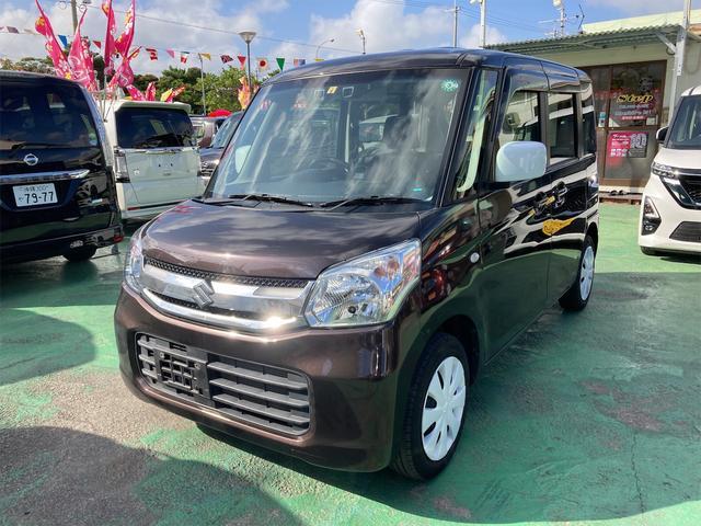 沖縄の中古車 スズキ スペーシア 車両価格 83万円 リ済込 2017(平成29)年 4.1万km ブラウン