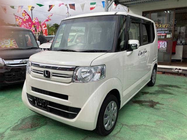 沖縄の中古車 ホンダ N-BOX 車両価格 89万円 リ済込 2017(平成29)年 5.2万km パール