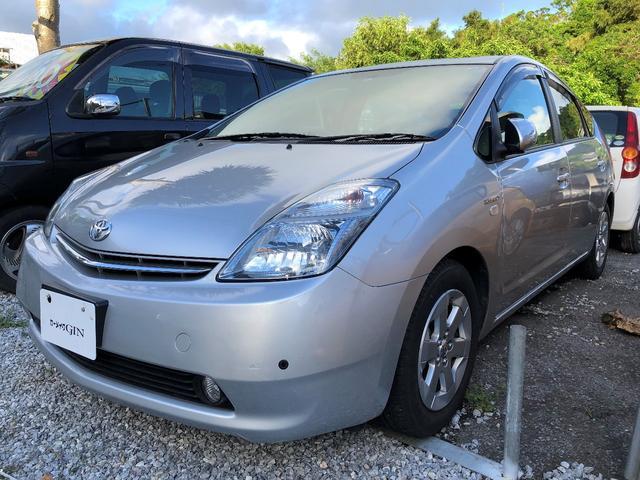 沖縄の中古車 トヨタ プリウス 車両価格 38万円 リ済込 2008(平成20)年 7.1万km シルバーM