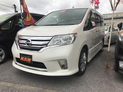 沖縄の中古車 日産 セレナ 車両価格 128万円 リ済込 平成25年 9.1万K パールホワイト