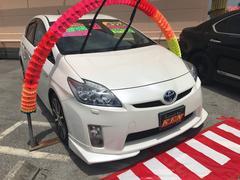 沖縄の中古車 トヨタ プリウス 車両価格 108万円 リ済込 平成23年 6.6万K パールホワイト