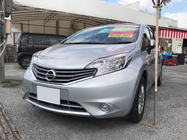 沖縄の中古車 日産 ノート 車両価格 53万円 リ済込 平成24年 4.2万km シルバー