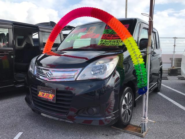 沖縄の中古車 スズキ ソリオ 車両価格 55万円 リ済込 2014(平成26)年 8.8万km ブラック