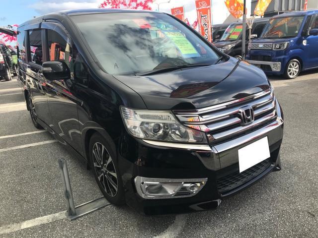 沖縄の中古車 ホンダ ステップワゴンスパーダ 車両価格 123万円 リ済込 2013(平成25)年 9.5万km ブラック