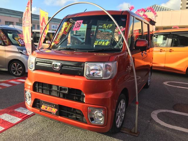 沖縄の中古車 ダイハツ ウェイク 車両価格 92万円 リ済込 2016(平成28)年 7.4万km オレンジ