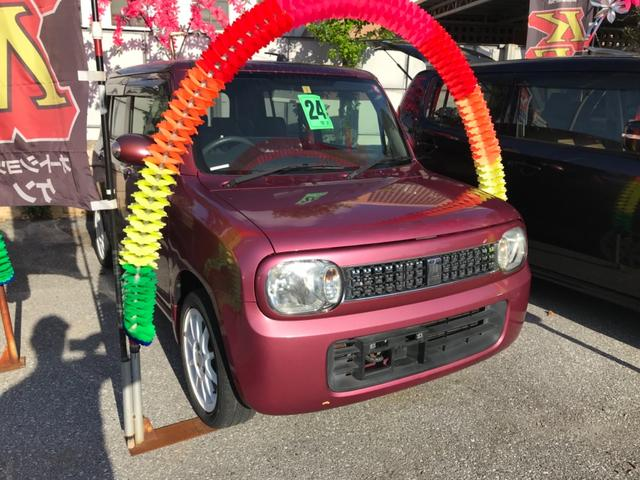沖縄の中古車 スズキ アルトラパン 車両価格 39万円 リ済込 2012(平成24)年 9.1万km ピンク